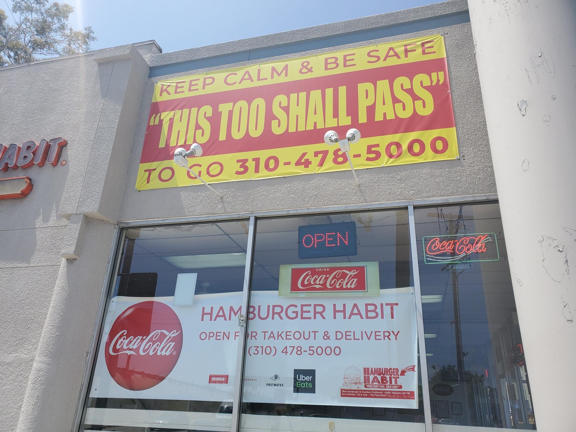 Hamburger stand banner